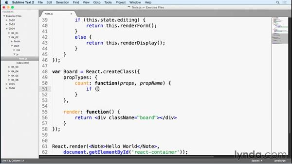PropTypes: Learn React.js: The Basics (2015)