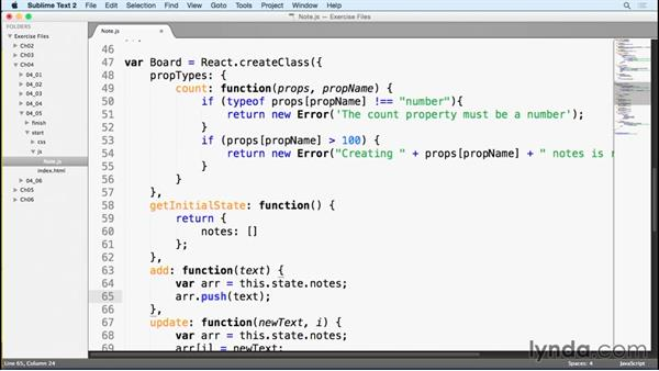 Adding new notes: Learn React.js: The Basics (2015)
