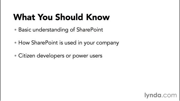 What you should know before watching this course: Creating Quick No-Code SharePoint Business Solutions with Composites