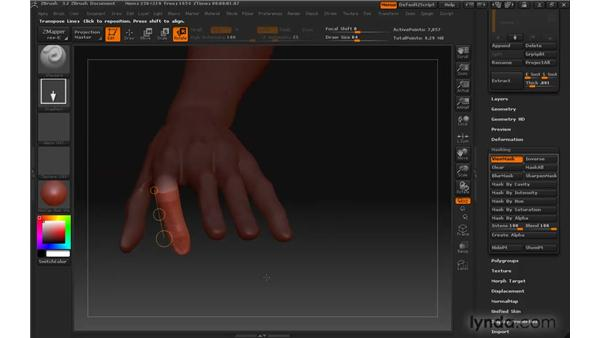 Posing models with Transpose pt. 2: ZBrush 3 for Windows Essential Training