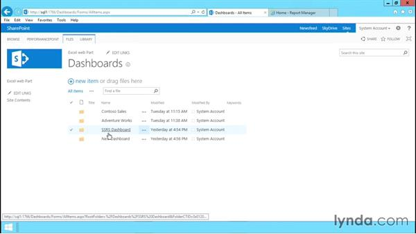 Using SQL reporting services in SharePoint