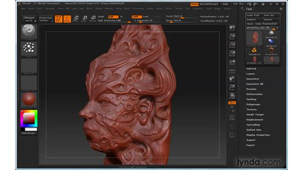 Choosing stroke types: ZBrush 3 for Windows Essential Training