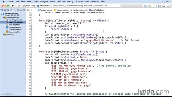 Using the testbed: iOS SDK and SQLite: Building Data-Driven Apps