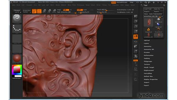 Using Lazy Mouse: ZBrush 3 for Windows Essential Training