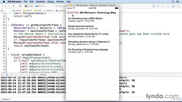 Reading preferences in the application: iOS SDK and SQLite: Building Data-Driven Apps
