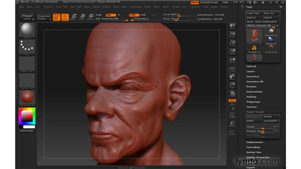 Storing morph targets: ZBrush 3 for Windows Essential Training