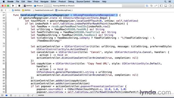 Adding a long-press interface: iOS SDK and SQLite: Building Data-Driven Apps