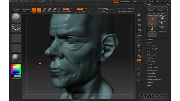 Picking colors: ZBrush 3 for Windows Essential Training