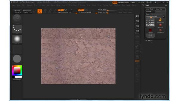 Creating seamless textures: ZBrush 3 for Windows Essential Training