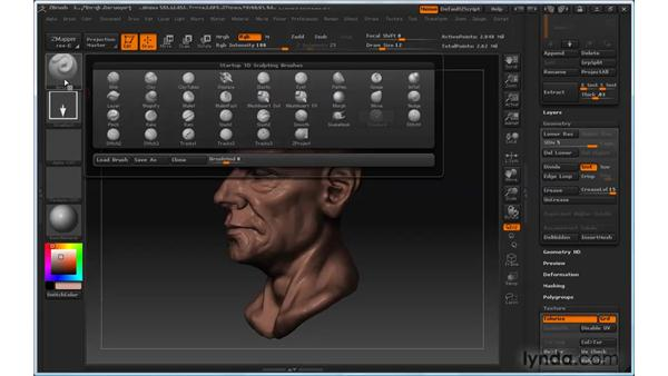 Painting models: ZBrush 3 for Windows Essential Training