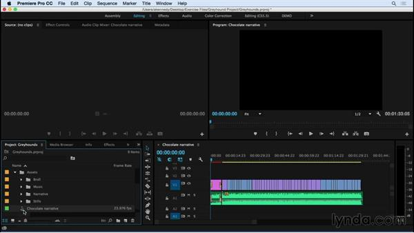 Importing media from existing Premiere Pro projects: Premiere Pro CC Essential Training (2015)