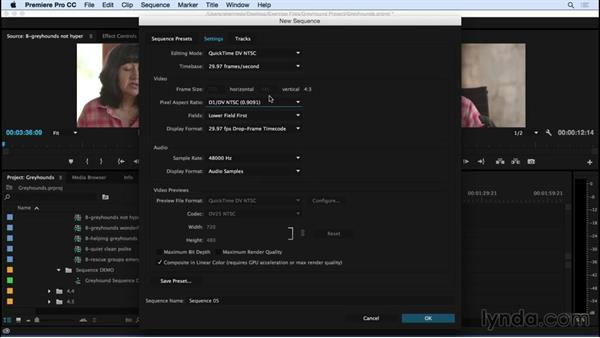 Setting up a sequence: Premiere Pro CC Essential Training (2015)