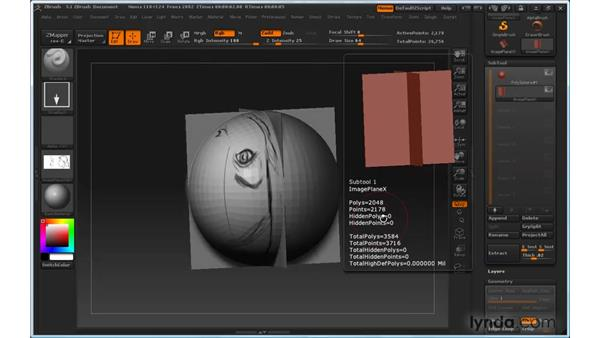 Adding sculpture reference planes: ZBrush 3 for Windows Essential Training