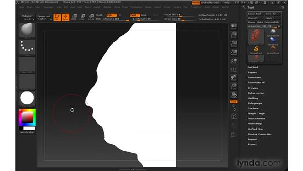 Applying materials: ZBrush 3 for Windows Essential Training
