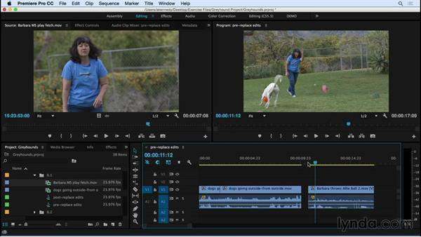 Performing replace edits: Premiere Pro CC Essential Training (2015)