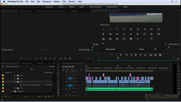 Creating buttons: Premiere Pro CC Essential Training (2015)