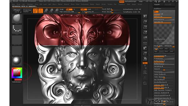 Modifying standard materials: ZBrush 3 for Windows Essential Training