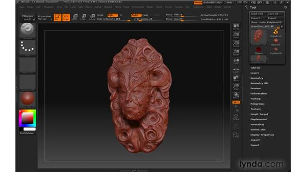 Applying MatCap materials: ZBrush 3 for Windows Essential Training