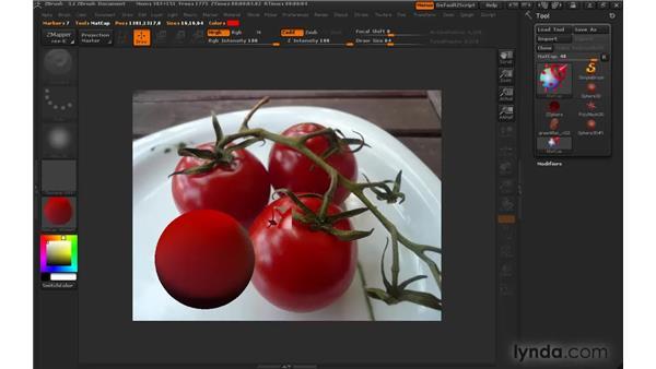 Creating MatCap materials: ZBrush 3 for Windows Essential Training