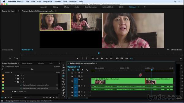 Refining the multicam edit: Premiere Pro CC Essential Training (2015)