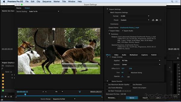 Using export enhancements: Premiere Pro CC Essential Training (2015)