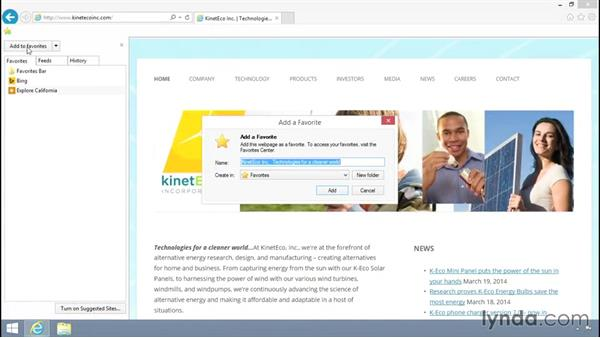 Welcome: Up and Running with Internet Explorer