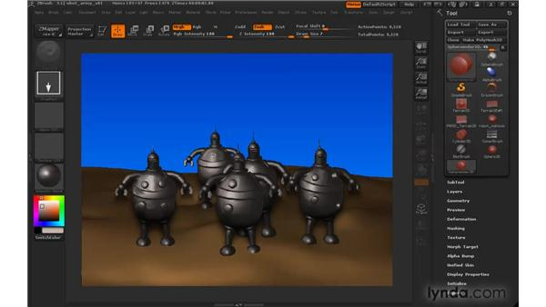Understanding ZSub and ZCut: ZBrush 3 for Windows Essential Training