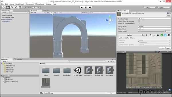 Importing textures: Unity 5: 3D Essential Training
