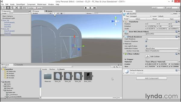 Generating colliders on geometry: Unity 5: 3D Essential Training