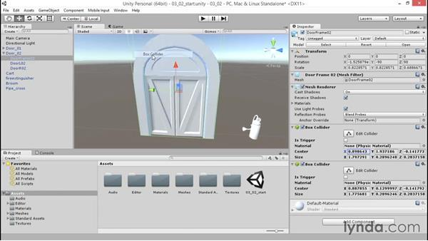 Applying and optimizing colliders: Unity 5: 3D Essential Training