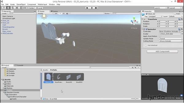 Creating a prefab: Unity 5: 3D Essential Training