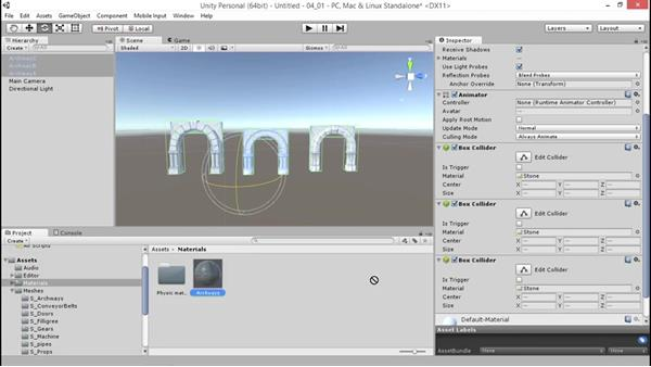 Creating and organizing new materials: Unity 5: 3D Essential Training