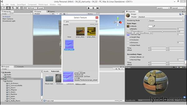 Using composite maps for smoothness and height: Unity 5: 3D Essential Training