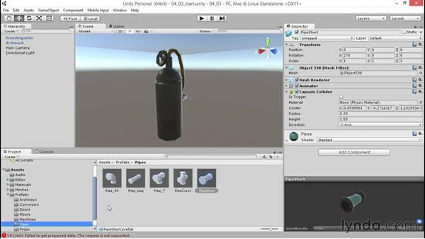Adjusting metallic and smoothness properties: Unity 5: 3D Essential Training