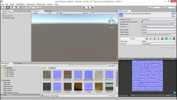 Creating normal maps from grayscale: Unity 5: 3D Essential Training