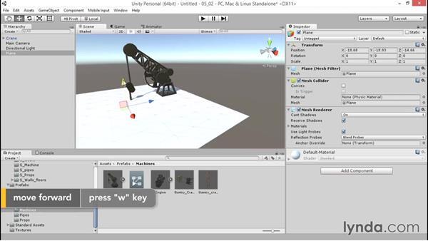 Accessing animation using Mecanim: Unity 5: 3D Essential Training