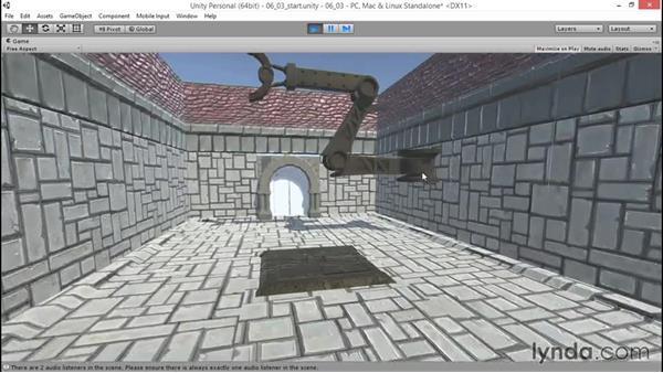 Bounding the player through design: Unity 5: 3D Essential Training