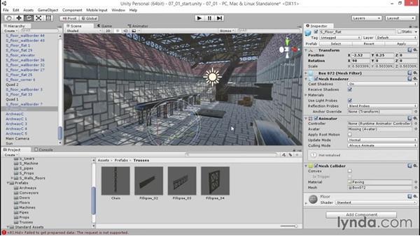 Fine-tuning the default daylight: Unity 5: 3D Essential Training