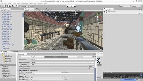 Adjusting baking parameters for a designed look: Unity 5: 3D Essential Training