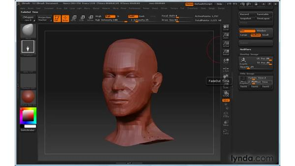 Recording ZBrush movies: ZBrush 3 for Windows Essential Training