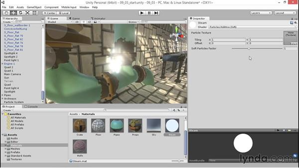 Modifying the appearance of particles: Unity 5: 3D Essential Training