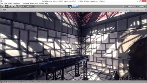 Creating reverb zones: Unity 5: 3D Essential Training