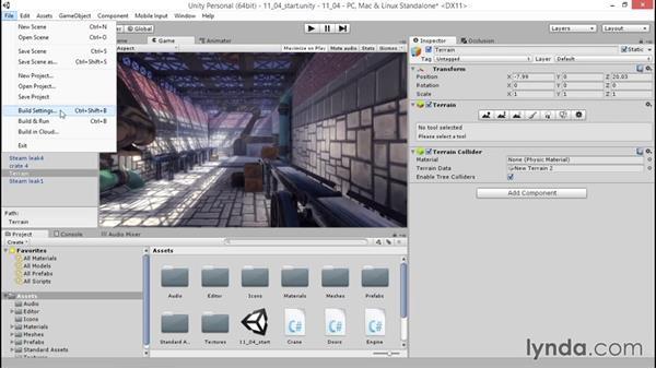 Compiling a desktop build: Unity 5: 3D Essential Training