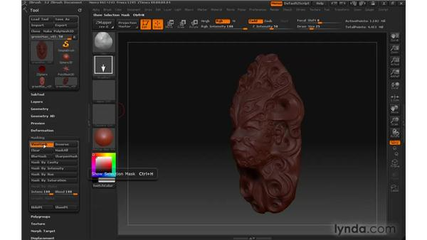 Can't sculpt on the model: ZBrush 3 for Windows Essential Training