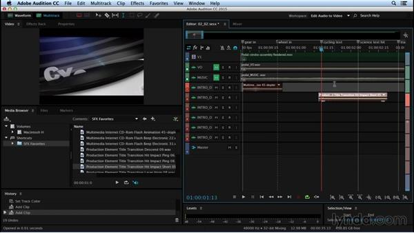 Adding sounds to the Timeline: Sound Design for Motion Graphics