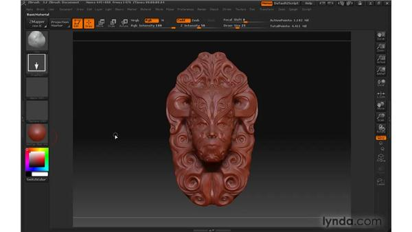 Can't adjust the lighting: ZBrush 3 for Windows Essential Training