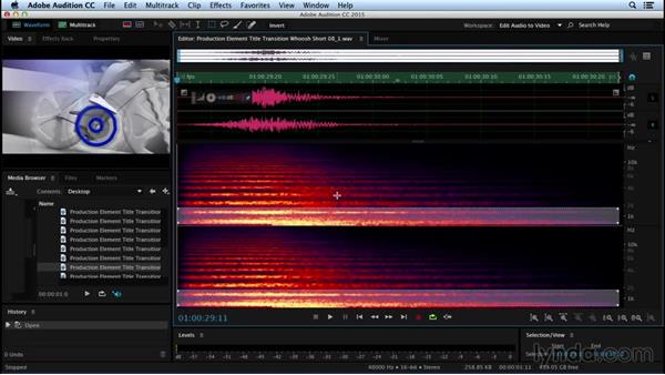 Spectral filtering for effect: Sound Design for Motion Graphics
