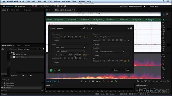Sculpting sound with Chorus and Guitar Suite: Sound Design for Motion Graphics