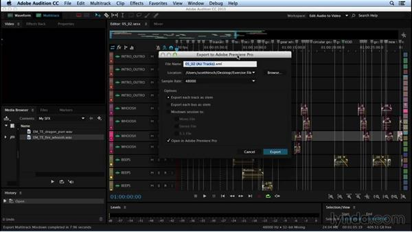 Exporting from Audition: Sound Design for Motion Graphics