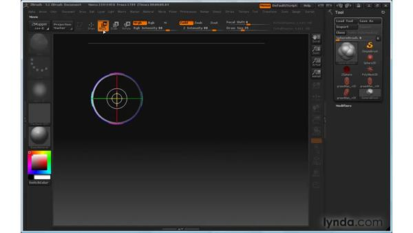 Can't control disappearing strokes: ZBrush 3 for Windows Essential Training
